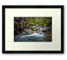 Upper Hollyford river Framed Print