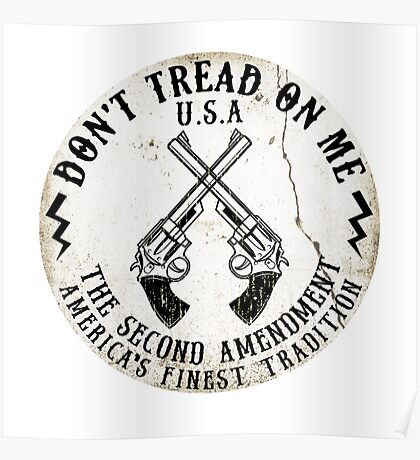 DON'T TREAD ON ME SECOND AMENDMENT USA AMERICA FREEDOM GUNS 2ND 2 Poster