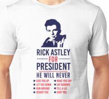 Rick Astley For President Unisex T-Shirt