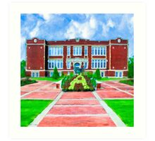 East Three Notch School - Streets of Andalusia Alabama Art Print