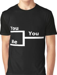 You vs Me In Bracket Graphic T-Shirt