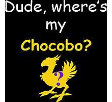 Dude, Where's My Chocobo? Photographic Print