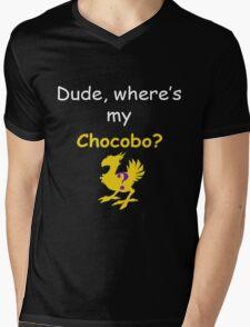 Dude, Where's My Chocobo? Mens V-Neck T-Shirt