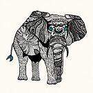 One Tribal Elephant by Pom Graphic Design