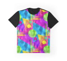 Retro-Seamless 80s-Style Abstracts Graphic T-Shirt