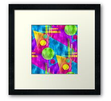 Retro-Seamless 80s-Style Abstracts Framed Print