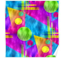 Retro-Seamless 80s-Style Abstracts Poster