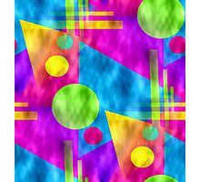 Retro-Seamless 80s-Style Abstracts Photographic Print