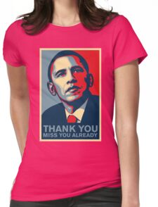 Obama - Thank You, Miss You Already Womens Fitted T-Shirt