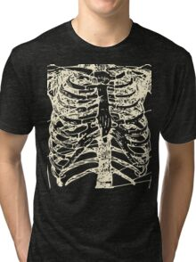 Skeletal System: Torso -bone Tri-blend T-Shirt