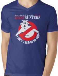 I AIN'T AFRAID OF NO GOATS T-SHIRT - CHICAGO CUBS 2016 Mens V-Neck T-Shirt