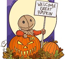 Sam Waits for the Great Pumpkin by Andrew Jones