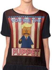 No puppet.  Chiffon Top