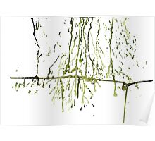Green Drips Poster