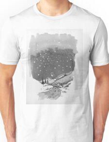 night scene snow Unisex T-Shirt