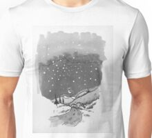night scene snow Unisex T-Shirt