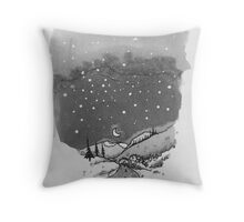 night scene snow Throw Pillow