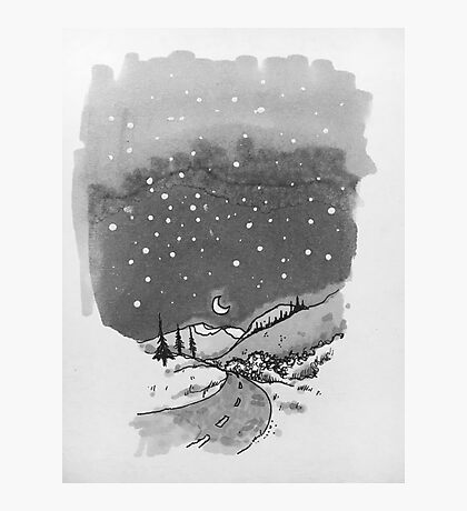night scene snow Photographic Print