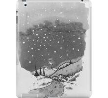 night scene snow iPad Case/Skin
