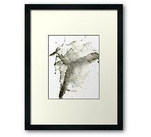 black 1 Framed Print