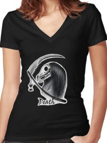 Four Horsemen Death  Women's Fitted V-Neck T-Shirt