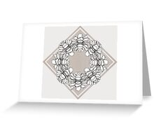 Black and white symmetric flowers Greeting Card
