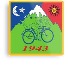 Hofmann Bike ride LSD Blotter Art Psychedelic Tee Metal Print