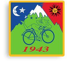 LSD Acid Hofmann Bike ride Blotter Art Psychedelic Canvas Print