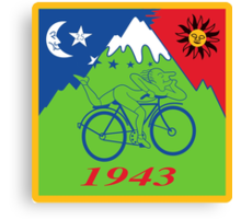Hofmann Bike ride LSD Blotter Art Psychedelic Tee Canvas Print