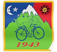 LSD Acid Hofmann Bike ride Blotter Art Psychedelic Poster