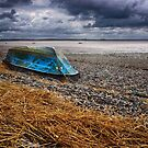 Upturned boat by Peter Stone