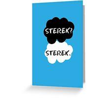 Sterek - TFIOS Greeting Card