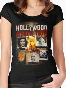 Hollywood Death Trip T-Shirt Women's Fitted Scoop T-Shirt