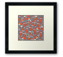 Chill Foxes Framed Print