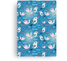 pattern of birds lovers  Canvas Print