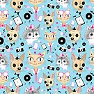 retro pattern with pictures of animals  by Tanor