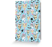 retro pattern with pictures of animals  Greeting Card