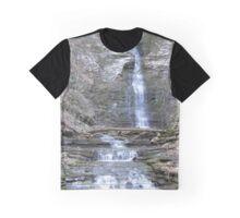 Creek Canyon Waterfall Graphic T-Shirt