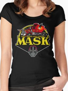 MASK Mobile Armored Strike Kommand Retro 80's Cartoon Women's Fitted Scoop T-Shirt
