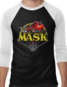 MASK Mobile Armored Strike Kommand Retro 80's Cartoon Men's Baseball ¾ T-Shirt