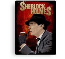 Sherlock Holmes Jeremy Brett T-Shirt Canvas Print