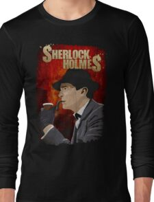 Sherlock Holmes Jeremy Brett T-Shirt Long Sleeve T-Shirt