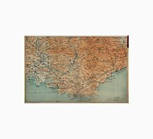 Vintage Map of Southern France (1914) Unisex T-Shirt