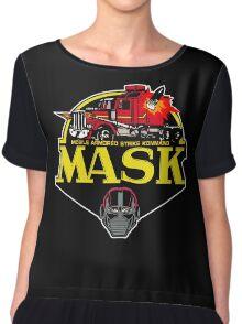 MASK Mobile Armored Strike Kommand Retro 80's Cartoon Chiffon Top