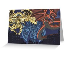 yugioh  egyptian gods Greeting Card