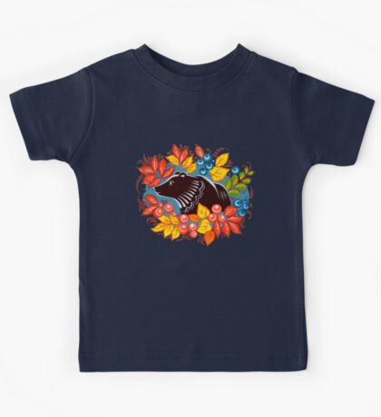 The Bear in autumn forest Kids Clothes