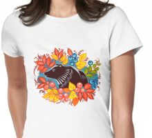 The Bear in autumn forest Womens Fitted T-Shirt