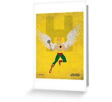 Hawkman - Superhero Minimalist Alphabet Print Art Greeting Card
