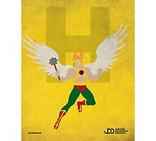 Hawkman - Superhero Minimalist Alphabet Print Art Photographic Print