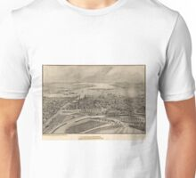 Vintage Pictorial Map of Providence RI (1896) Unisex T-Shirt